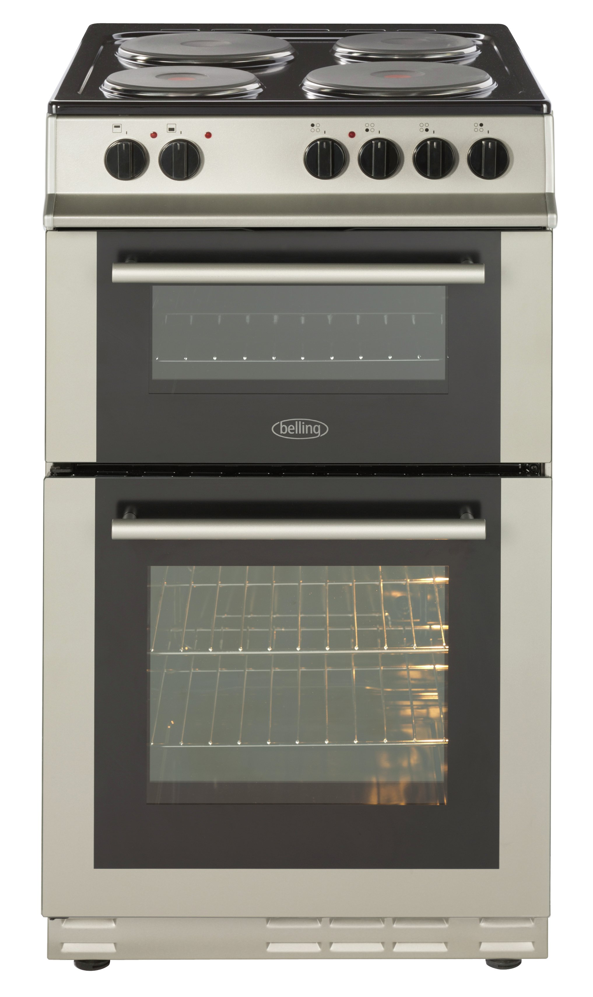 belling fs50efdo electric cooker silver ins del rec. Black Bedroom Furniture Sets. Home Design Ideas