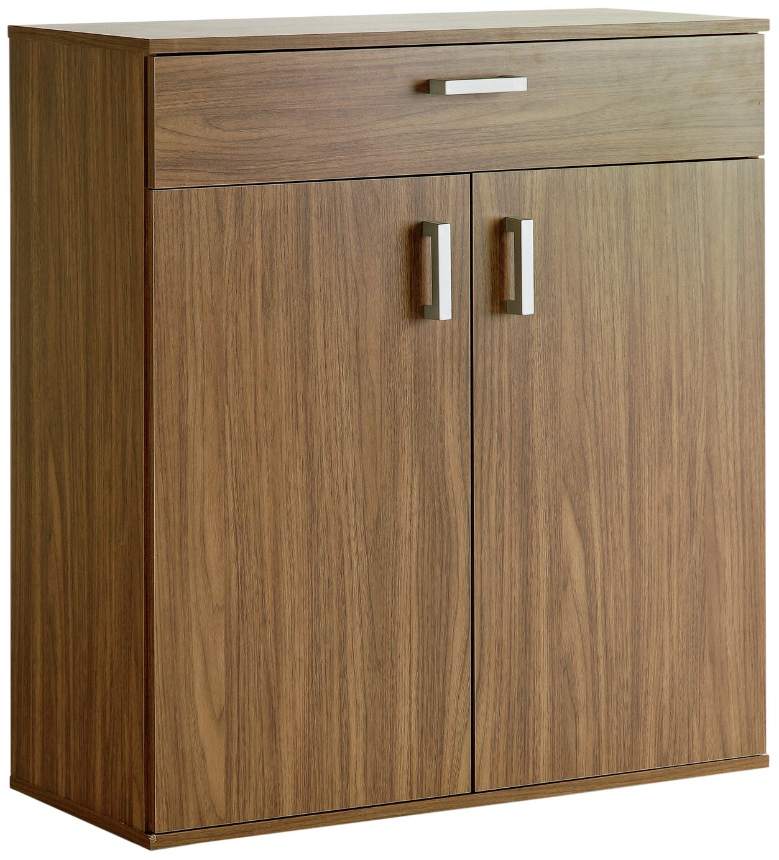 sale on home venetia shoe storage cabinet walnut effect. Black Bedroom Furniture Sets. Home Design Ideas