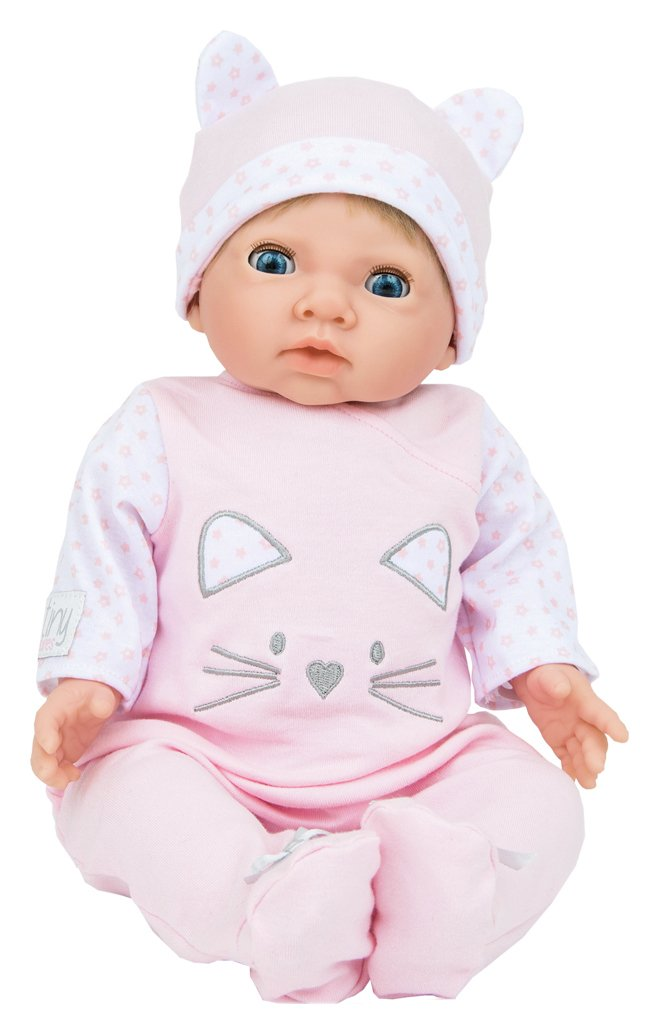 Chad valley tiny treasures baby doll with pink outfit hat