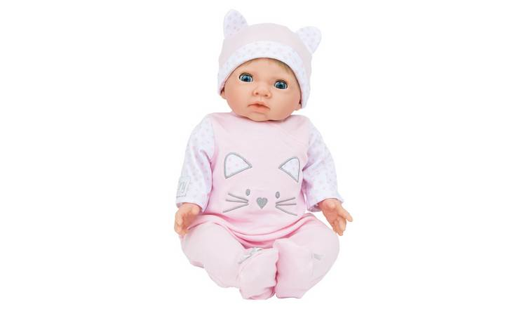 a48f81d8e Buy Chad Valley Tiny Treasures Baby Doll with Pink Outfit   Hat ...