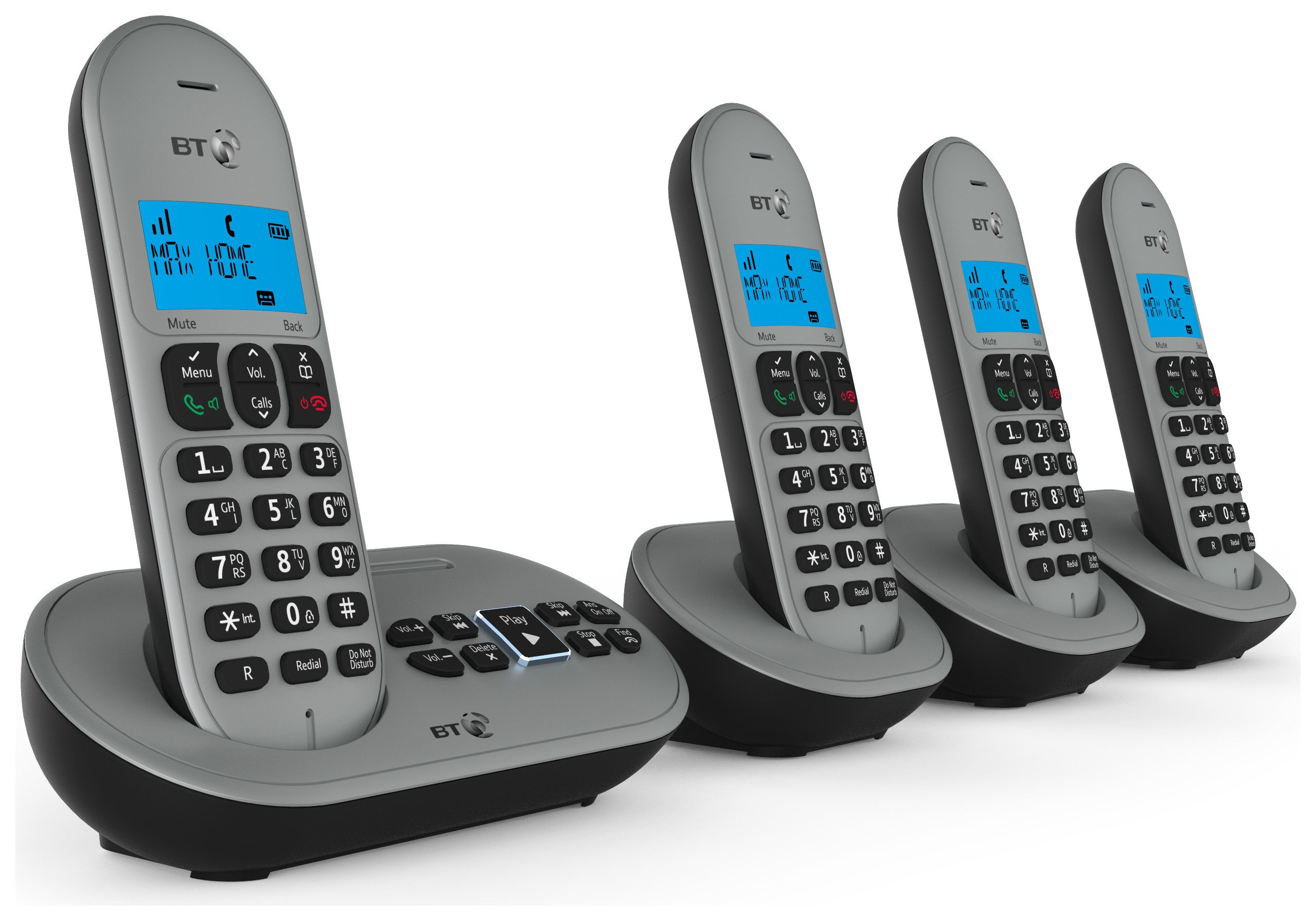 BT BT - 3580 - Cordless Telephone & Answer Machine - Quad