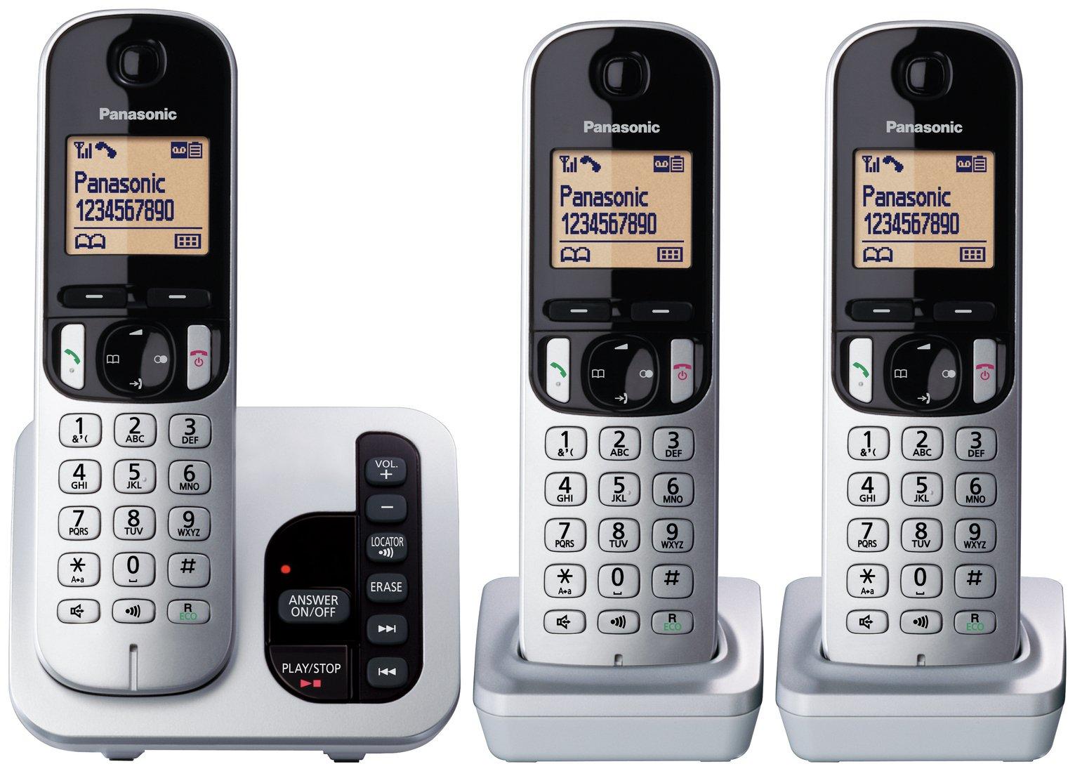 Panasonic KX-TGC220ES Cordless Telephone & Answer Machine ...