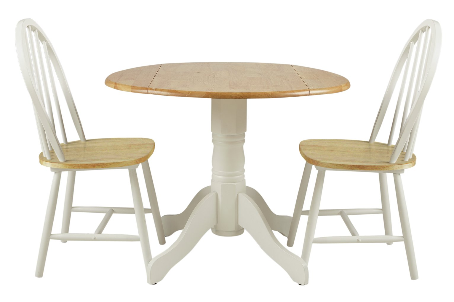 Sale on collection kentucky drop leaf table and 2 chairs two tone the collection by argos now - Drop leaf table and chairs uk ...