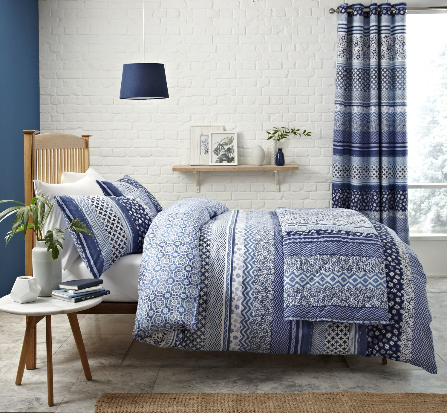 Catherine Lansfield Santorini Bedding Set - Double