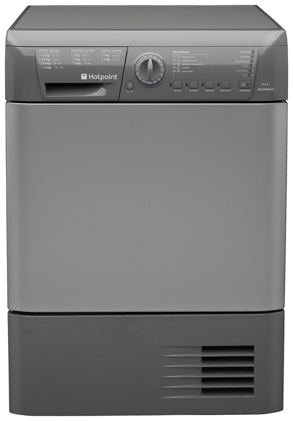 Hotpoint TCHL 83B RG Condenser Tumble Dryer - Graphite.