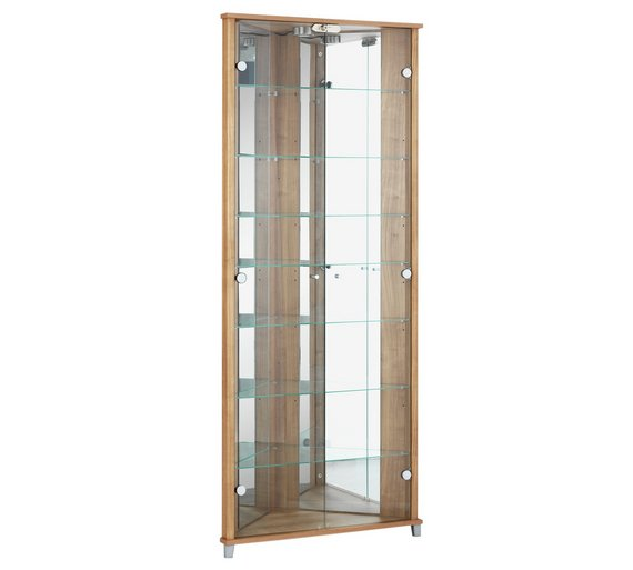 Buy HOME Triangle 2 Door Corner Display Cabinet