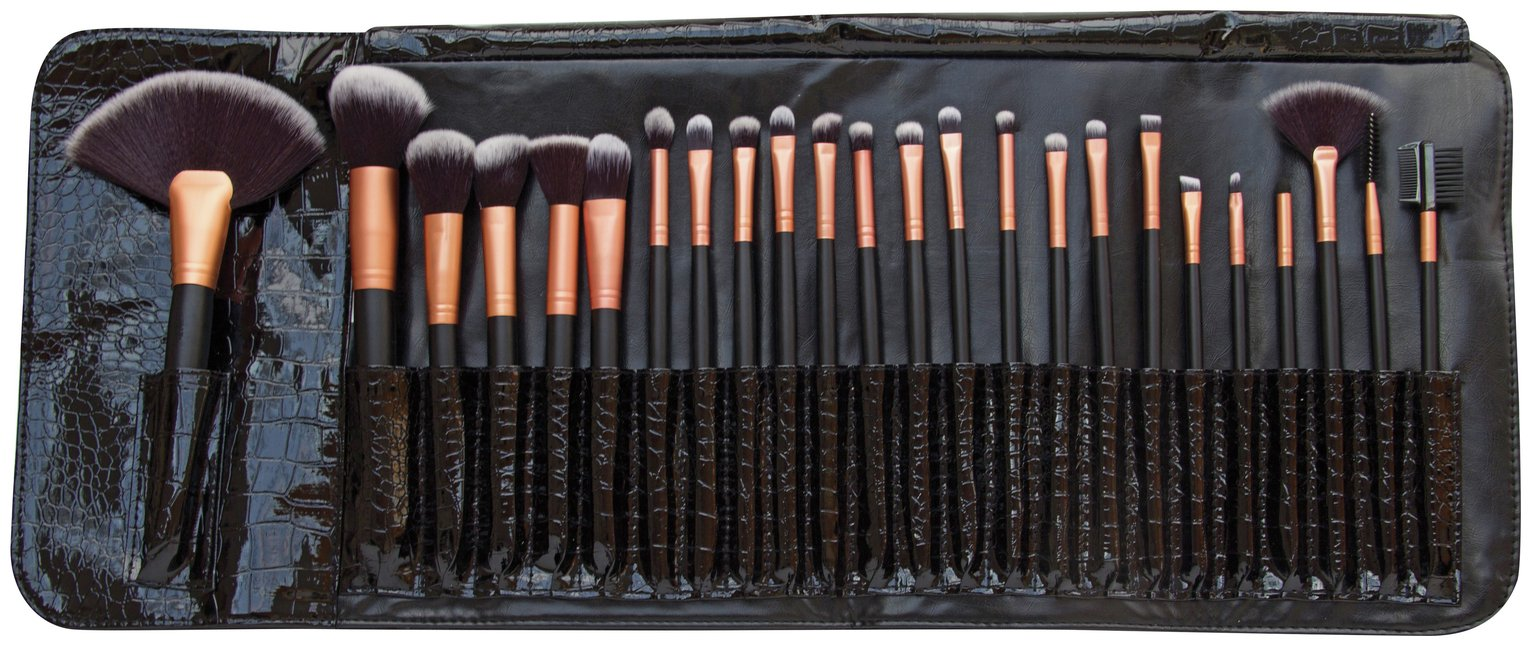 makeup brush set. rio professional 24 piece cosmetic make-up brush set makeup i