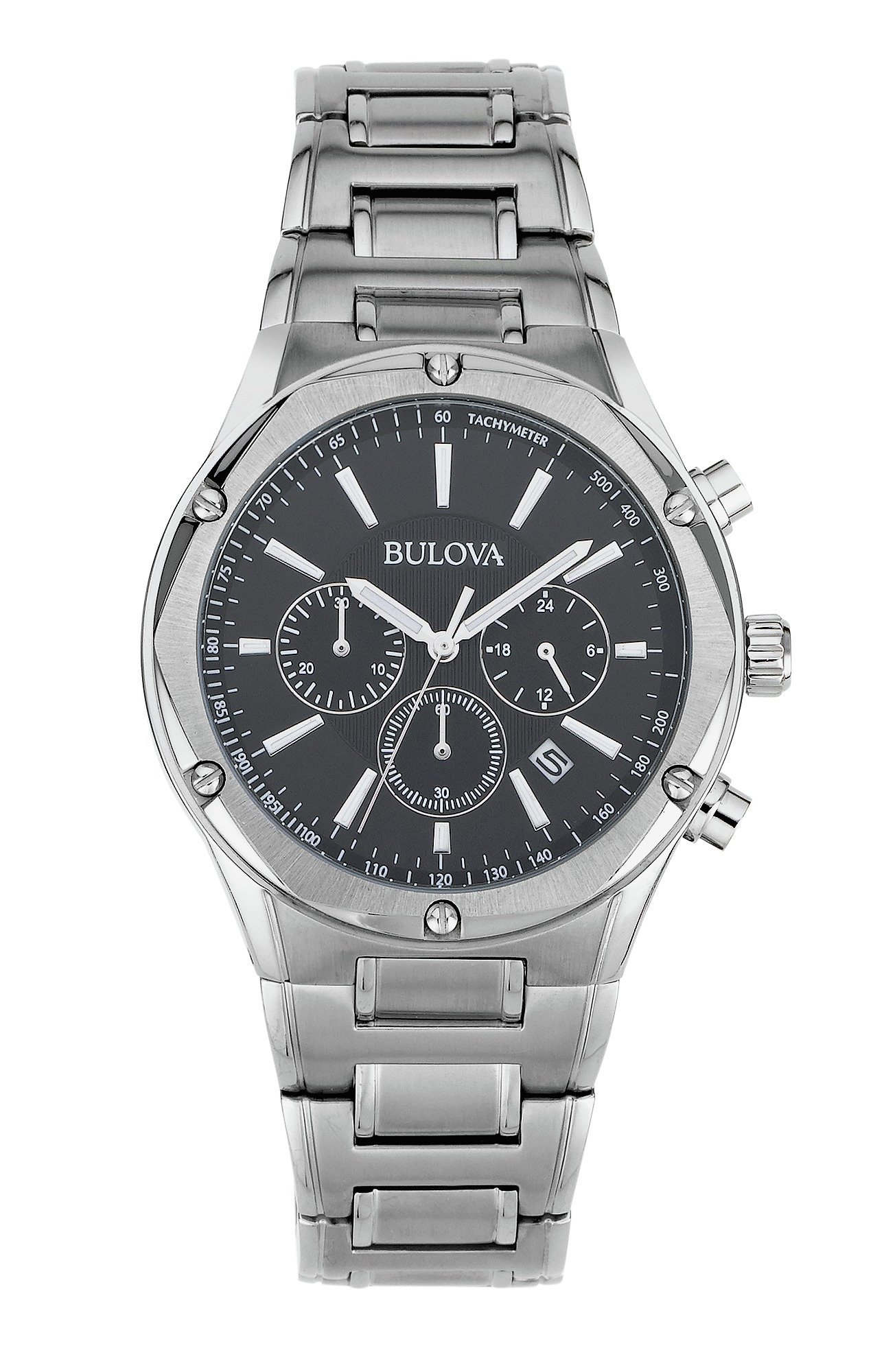 Image of Bulova Men's Stainless Steel Chronograph Bracelet Watch