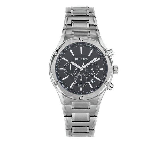 buy bulova men s stainless steel chronograph bracelet watch at bulova men s stainless steel chronograph bracelet watch542 4698