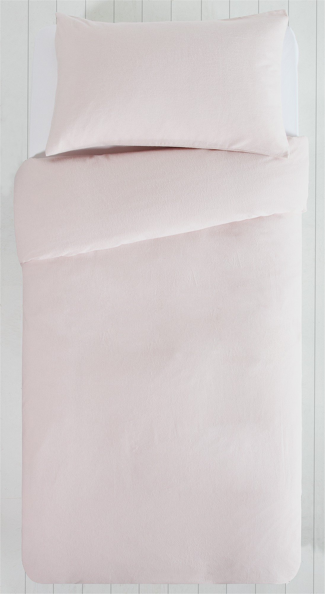 Collection - Pink Brushed Cotton - Bedding Set - Single