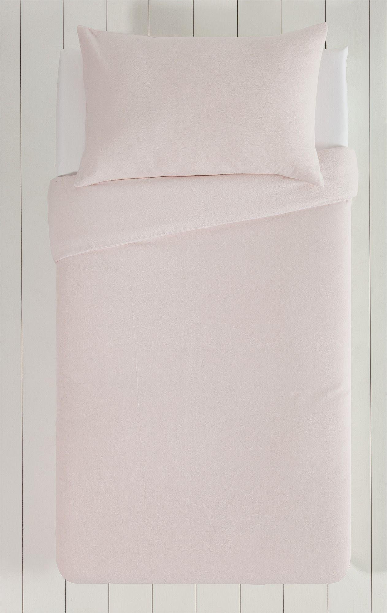 Collection - Pink Brushed - Cotton - Bedding Set - Toddler