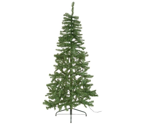 home 6ft pre lit half christmas tree green - Half Christmas Tree