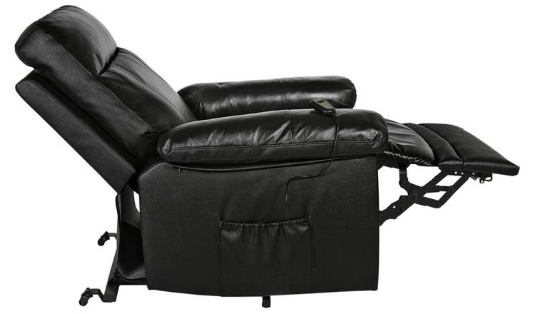 Buy Argos Home Paolo Riser Recliner Leather Chair Black | Armchairs and chairs | Argos