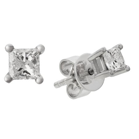 Revere 9ct White Gold 0.25ct tw Diamond Solitaire Earrings