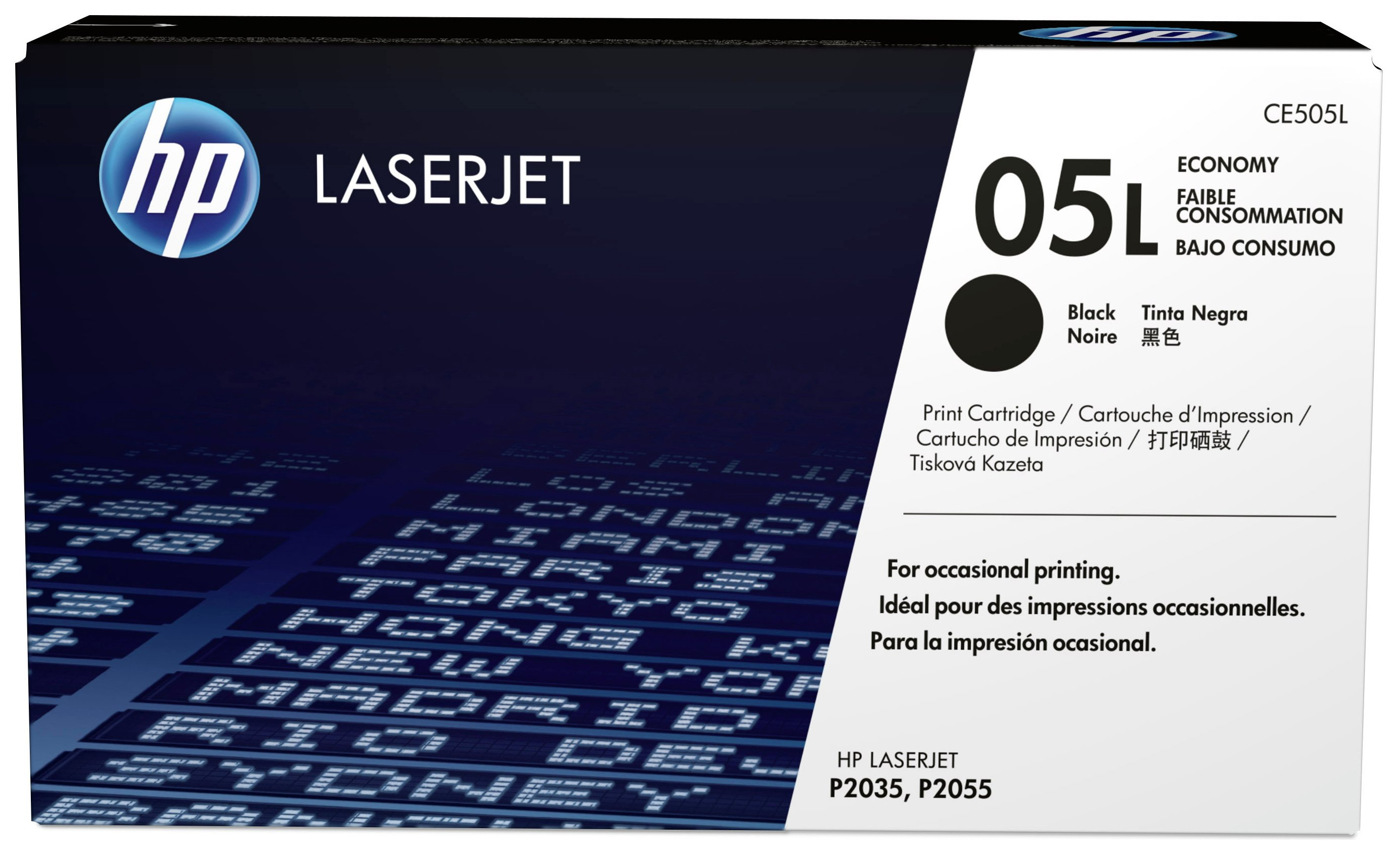 Image of HP - 05L Economy Black LaserJet - Toner Cartridge (CE505L)