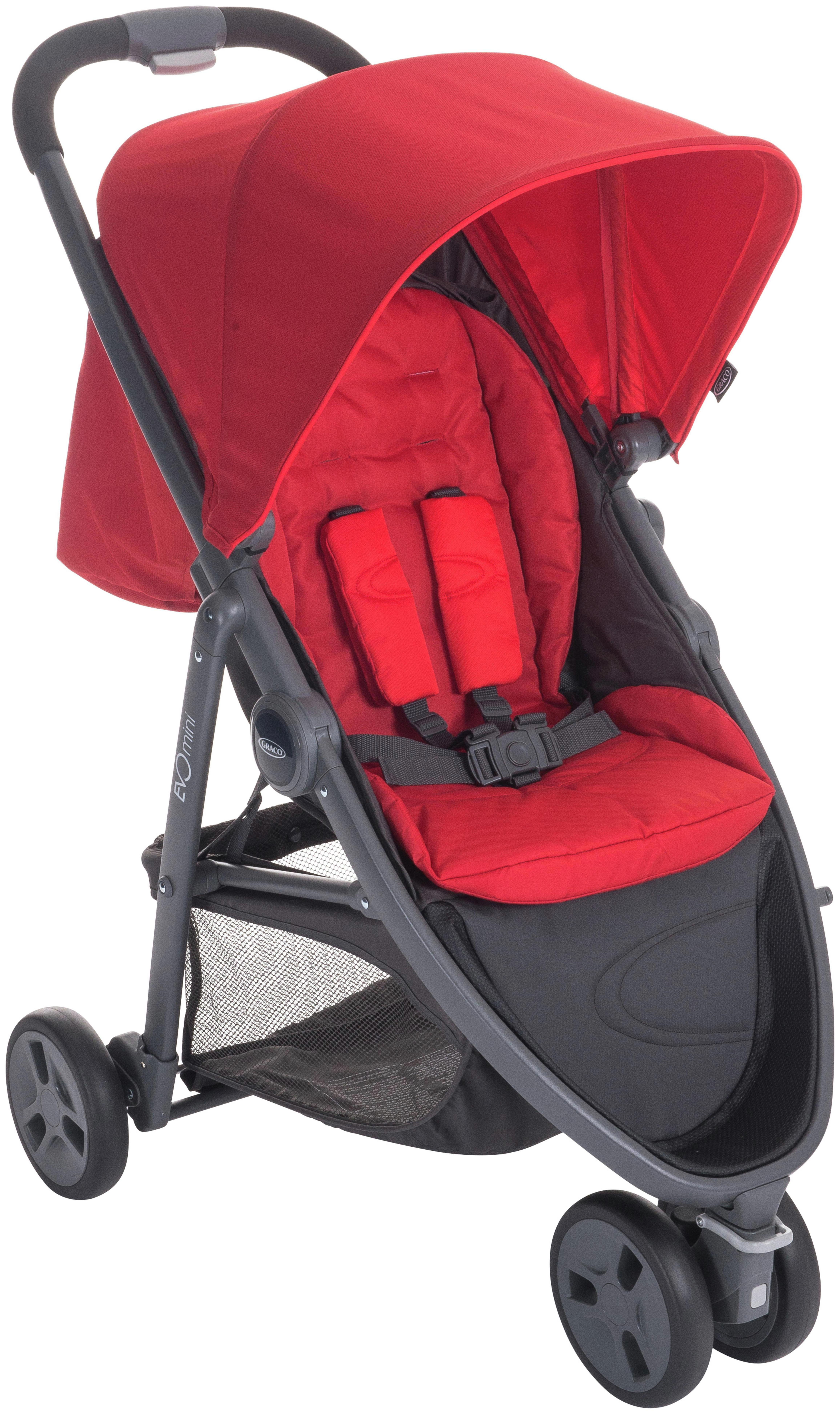 Image of Graco Evo Fiery Red Mini Pushchair.