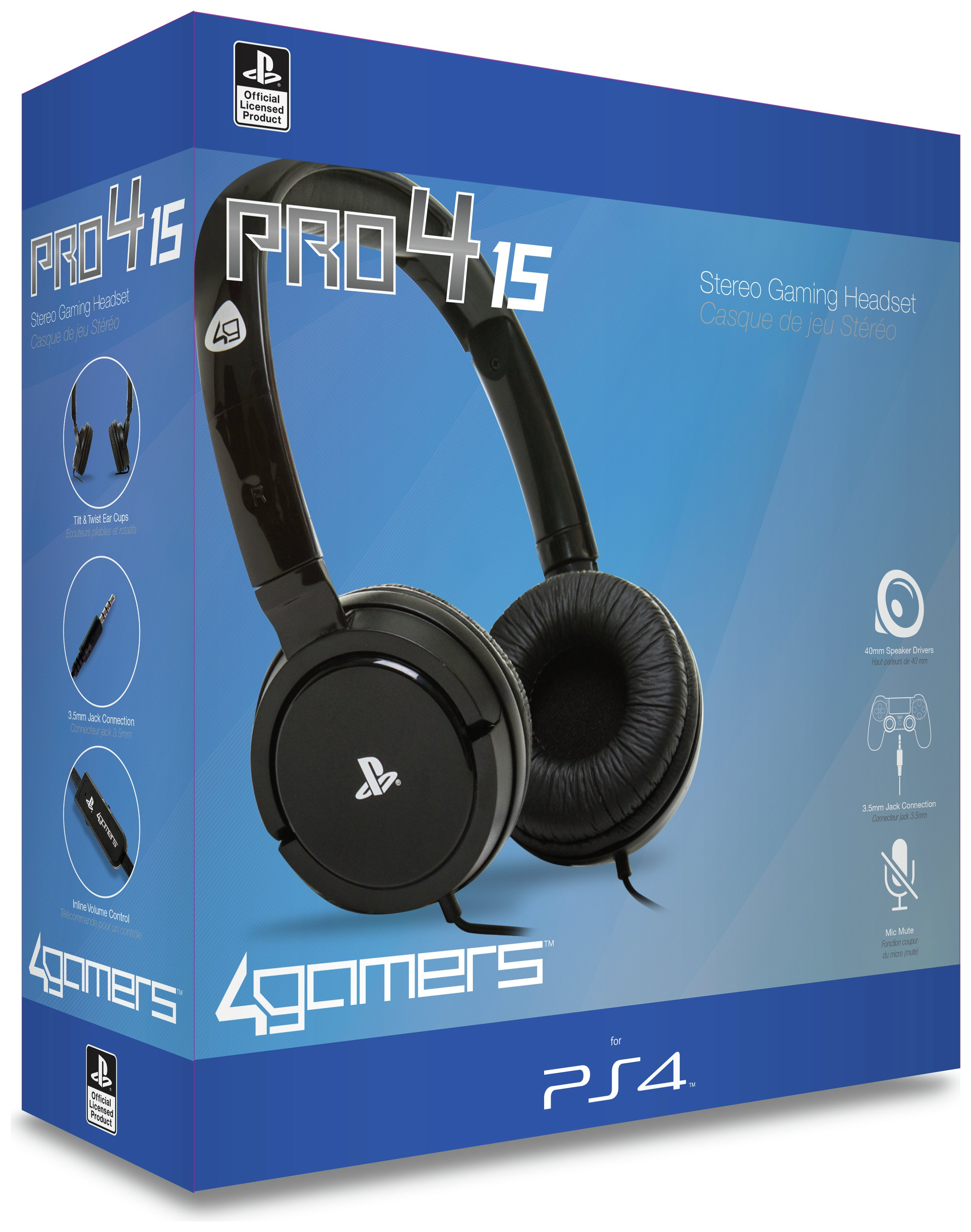 4Gamers Pro4 15 Wired Multi-platform Gaming Headset