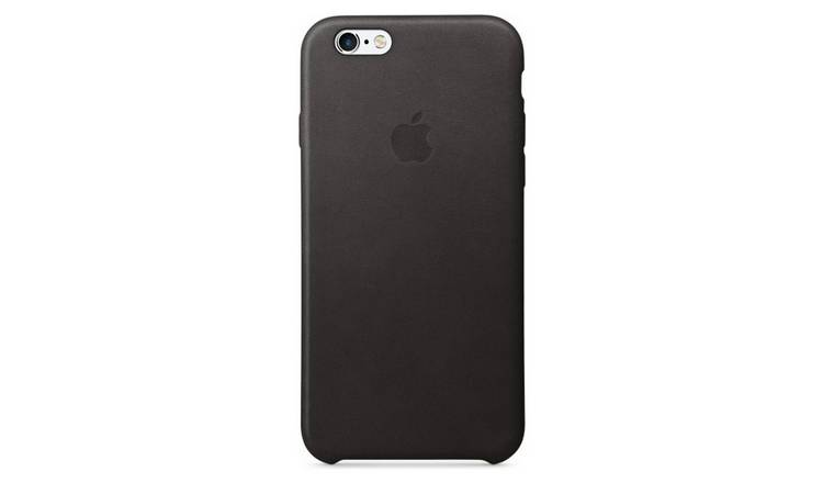 on sale 359c7 3f369 Buy Apple iPhone 6/6s Leather Case - Black | Mobile phone cases | Argos
