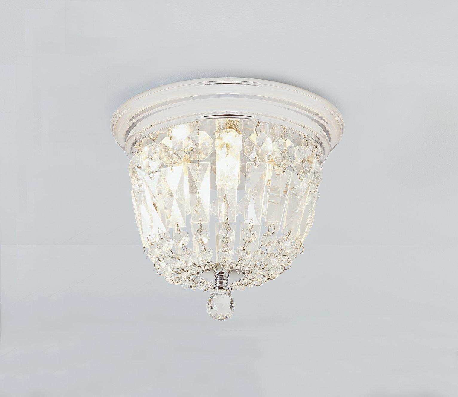 Bathroom Light Fixtures Argos buy collection ariana glass droplets bathroom light - chrome eff