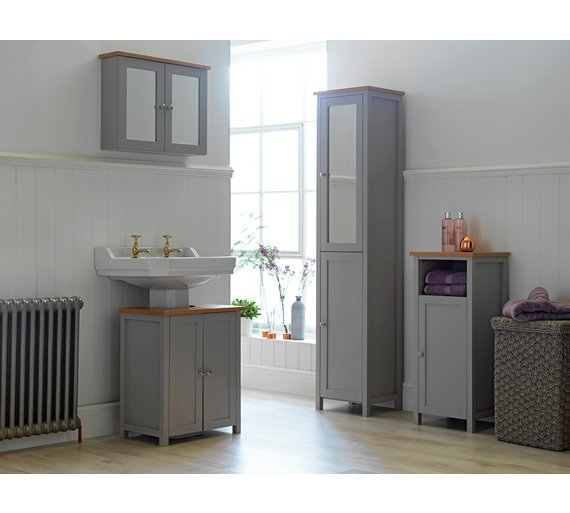 Grey Bathroom Furniture Uk: Buy Heart Of House Livingston Floor Cabinet