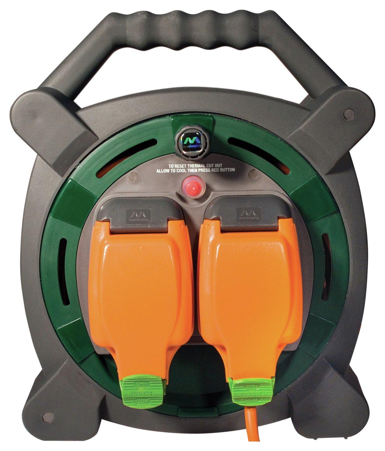 Masterplug - 2 Socket 15 Metre Waterproof Case Reel lowest price
