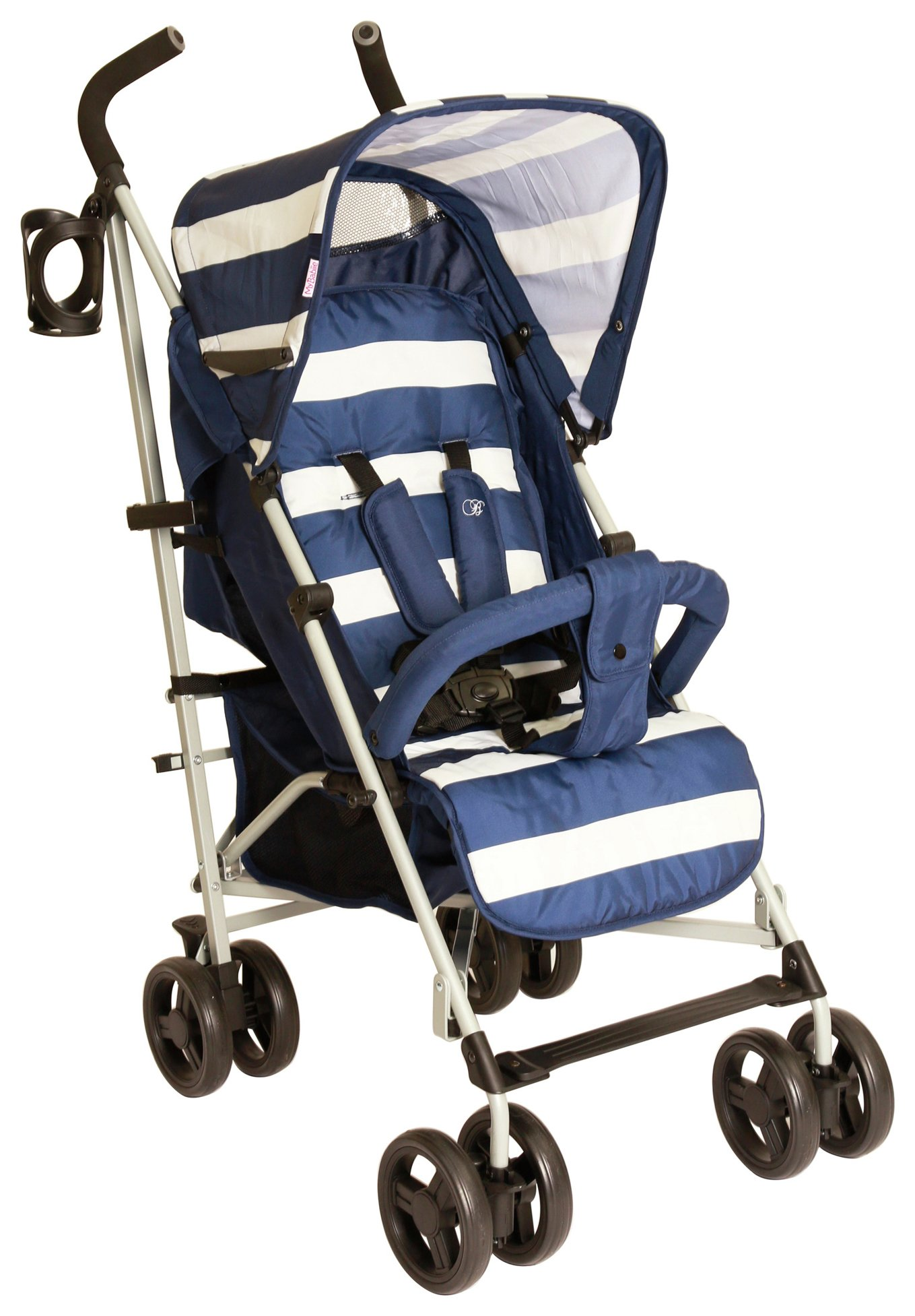 Image of Billie Faiers MB01 Blue Stripe Stroller.