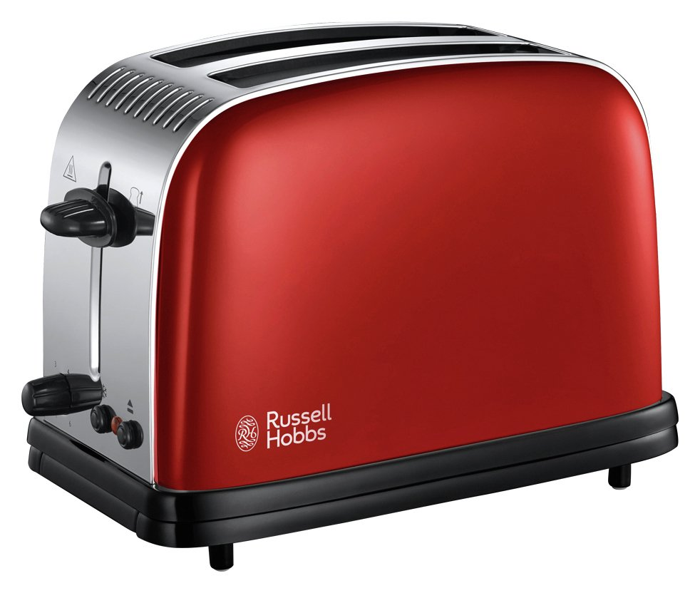 Russell Hobbs 23330 Colours+ 2 Slice Toaster - Red