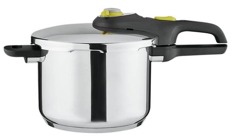 Buy Tefal 6 Litre Stainless Steel Pressure Cooker | Pressure cookers | Argos