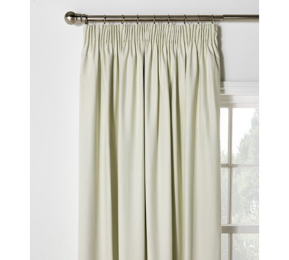 Buy HOME Blackout Thermal Curtains-117x183cm-Cotton Cream at Argos ...