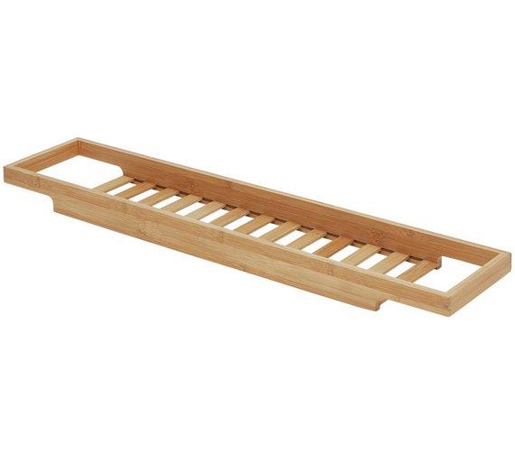 Buy Habitat Bethany Bamboo Over Bath Rack | Bath accessories | Argos