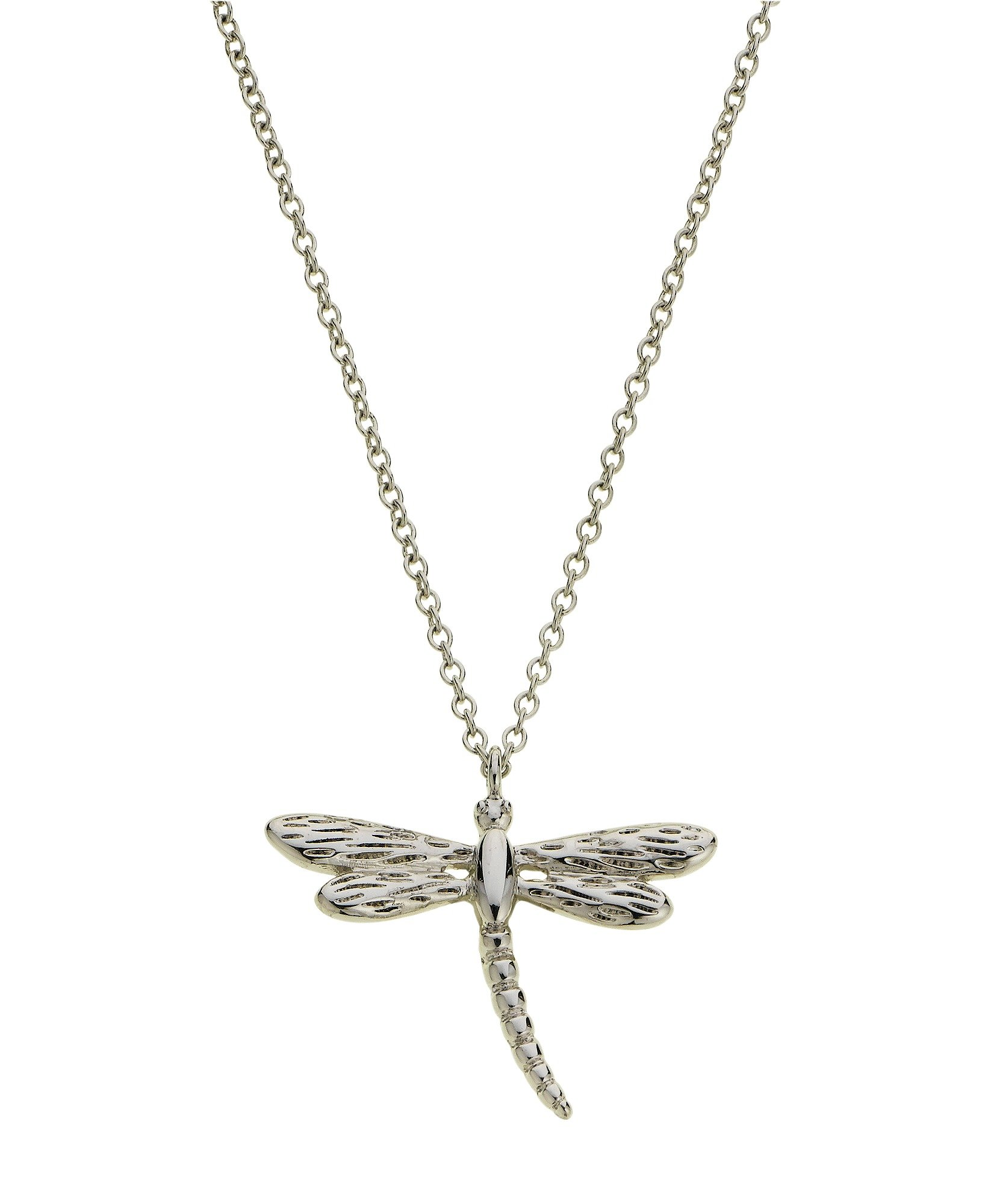 Image of Amelia Grace - Dragonfly Silver Colour Necklace.