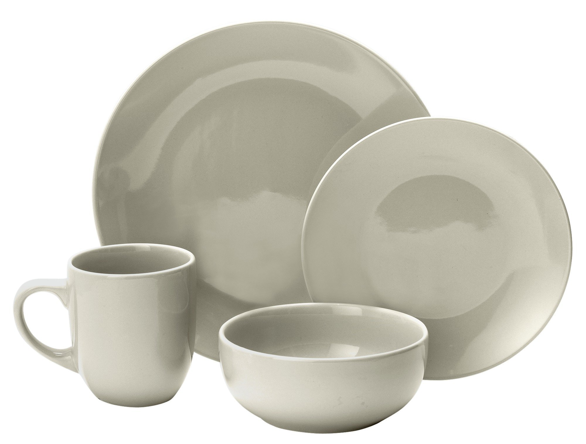Image of Collection - Bosa 16 Piece Stoneware Dinner Set - Ash White