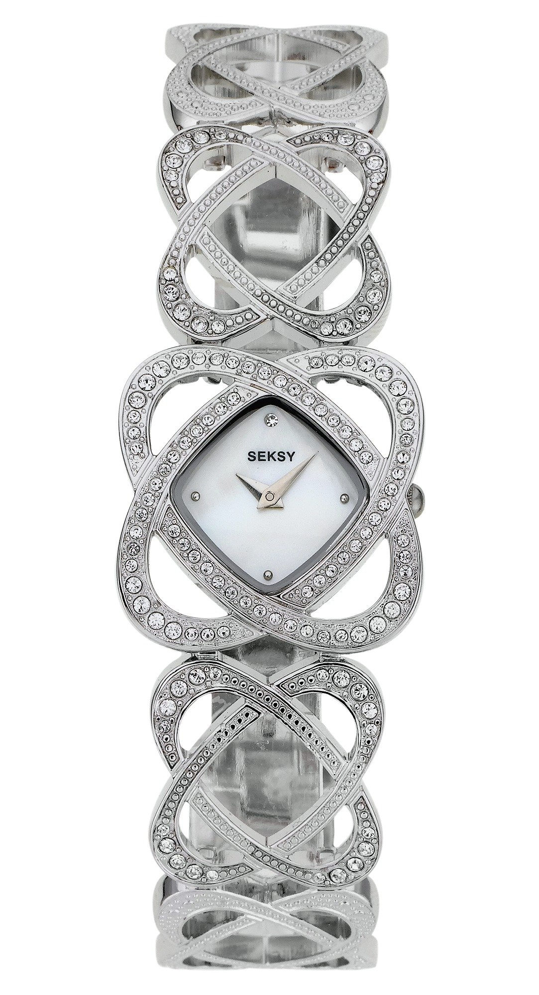 Seksy Ladies' Crystal Hearts Bracelet Watch