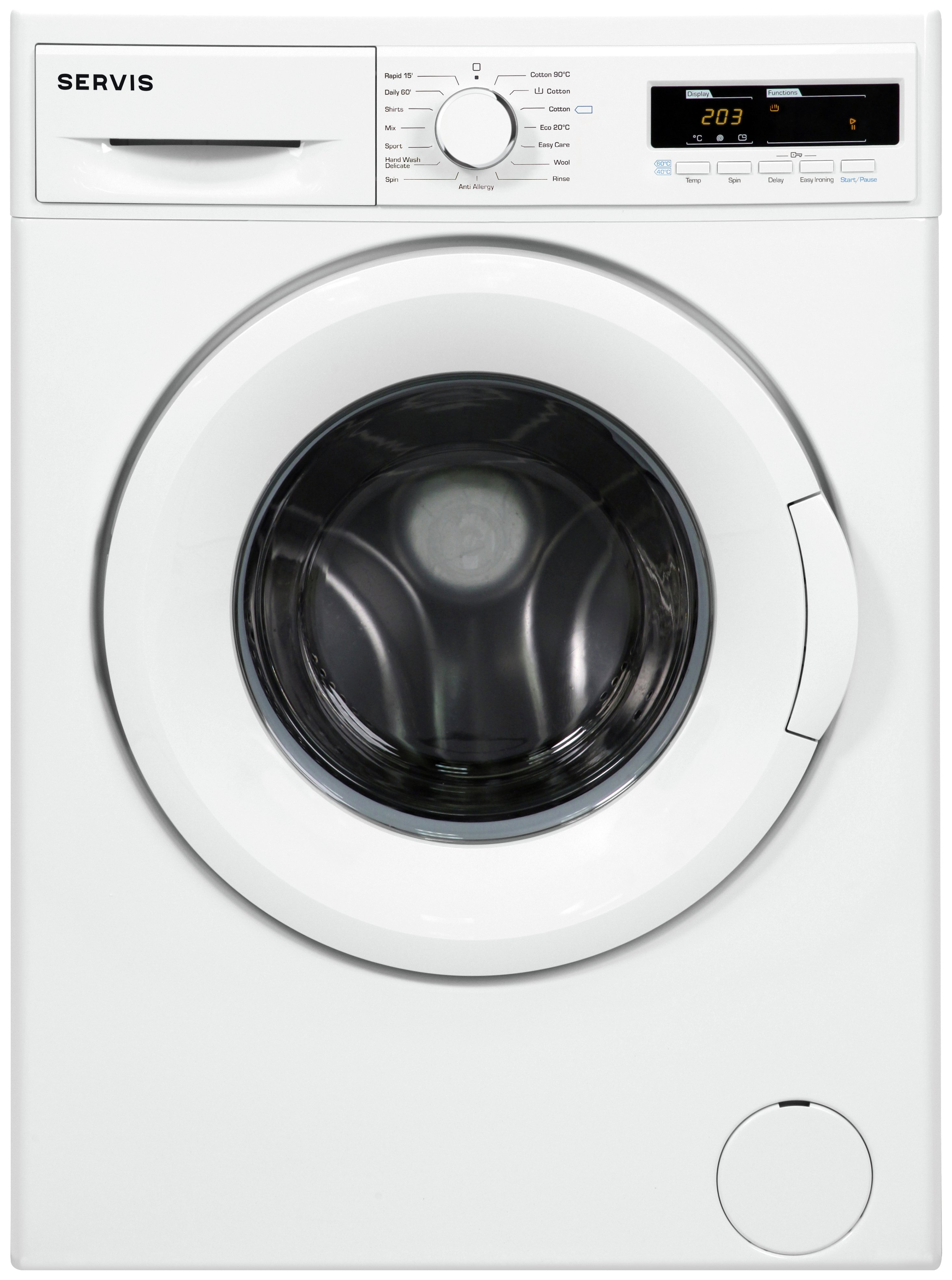 Image of Servis L914W 9KG 1400 Spin Washing Machine - White.