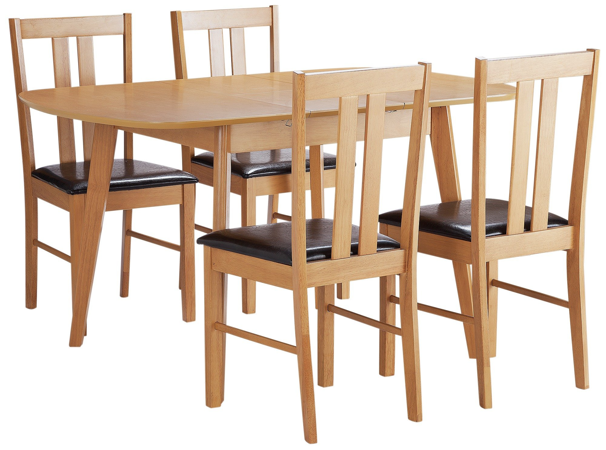 argos home witley extendable wood table 4 chairs black. Black Bedroom Furniture Sets. Home Design Ideas