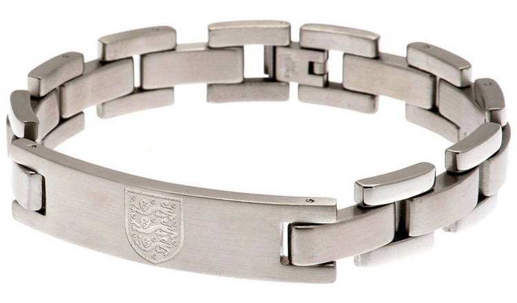 Stainless Steel England FA Crest Bracelet