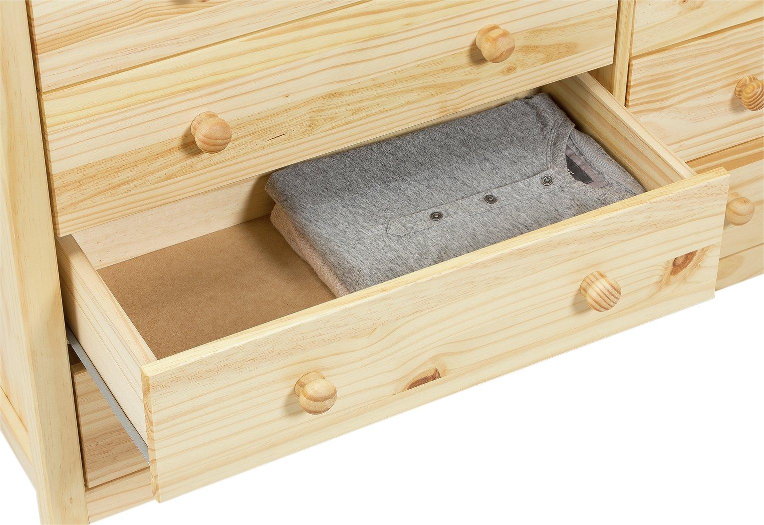 Argos home new scandinavia 5 5 drawer chest pine
