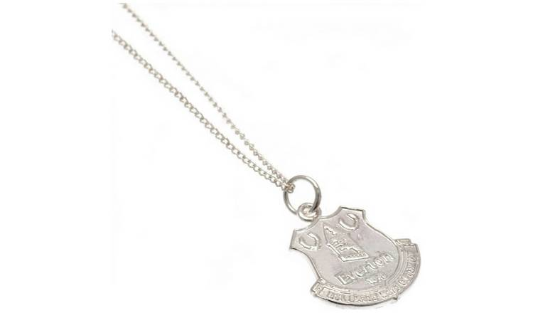 Sterling Silver Everton FC Crest Pendant Necklace