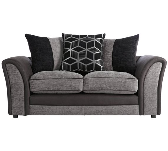 Buy Collection Rhiannon 2 Seat Fabric Leather Eff Sofa
