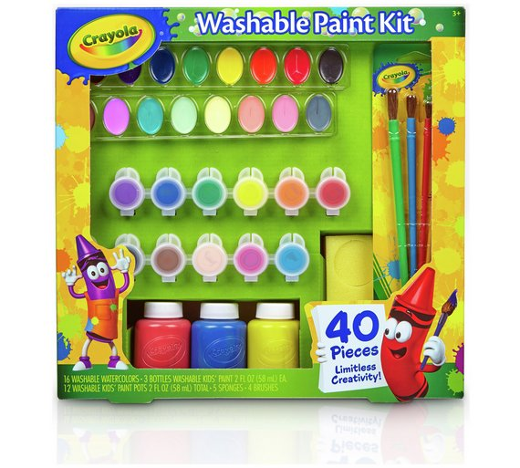 Buy Crayola 40 Piece Washable Paint Kit at Argos.co.uk - Your ...