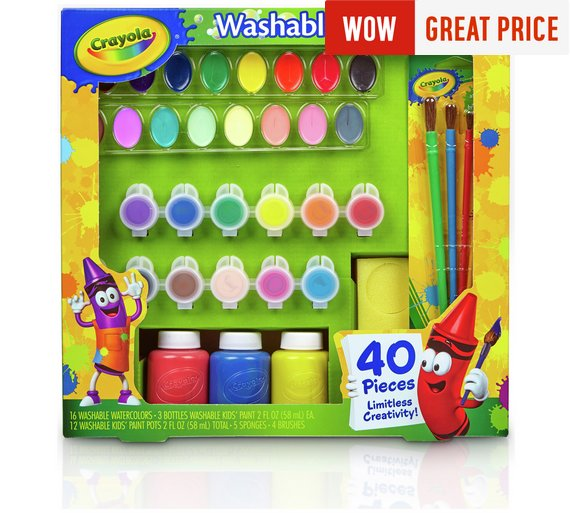 Buy crayola 40 piece washable paint kit at argos your click to zoom sciox Images