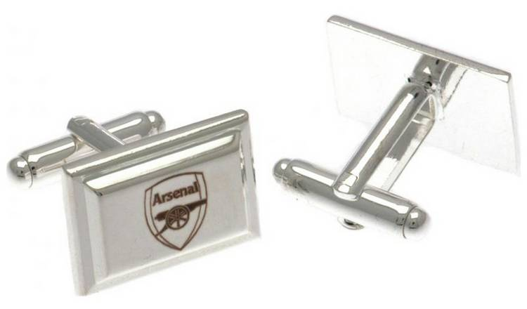 Silver Plated Arsenal Crest Cufflinks.
