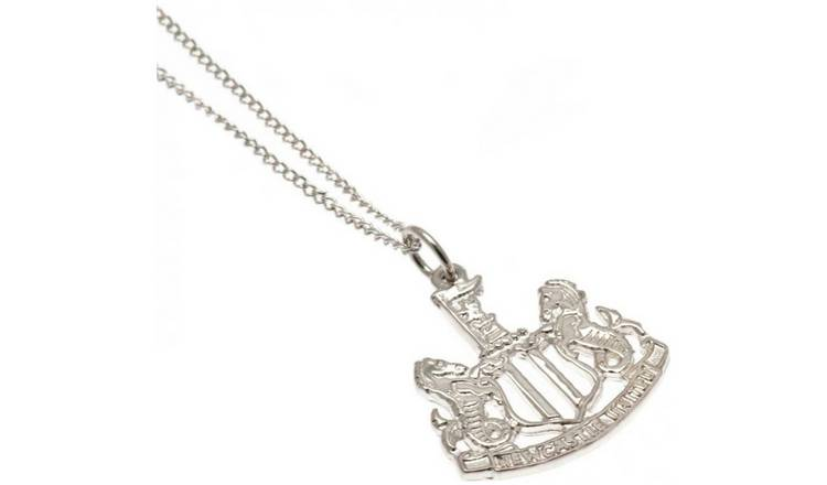 Sterling Silver Newcastle Unted Crest Pendant Necklace