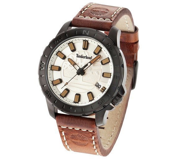 buy timberland wayland men s brown leather strap watch at argos co timberland wayland men s brown leather strap watch544 2144