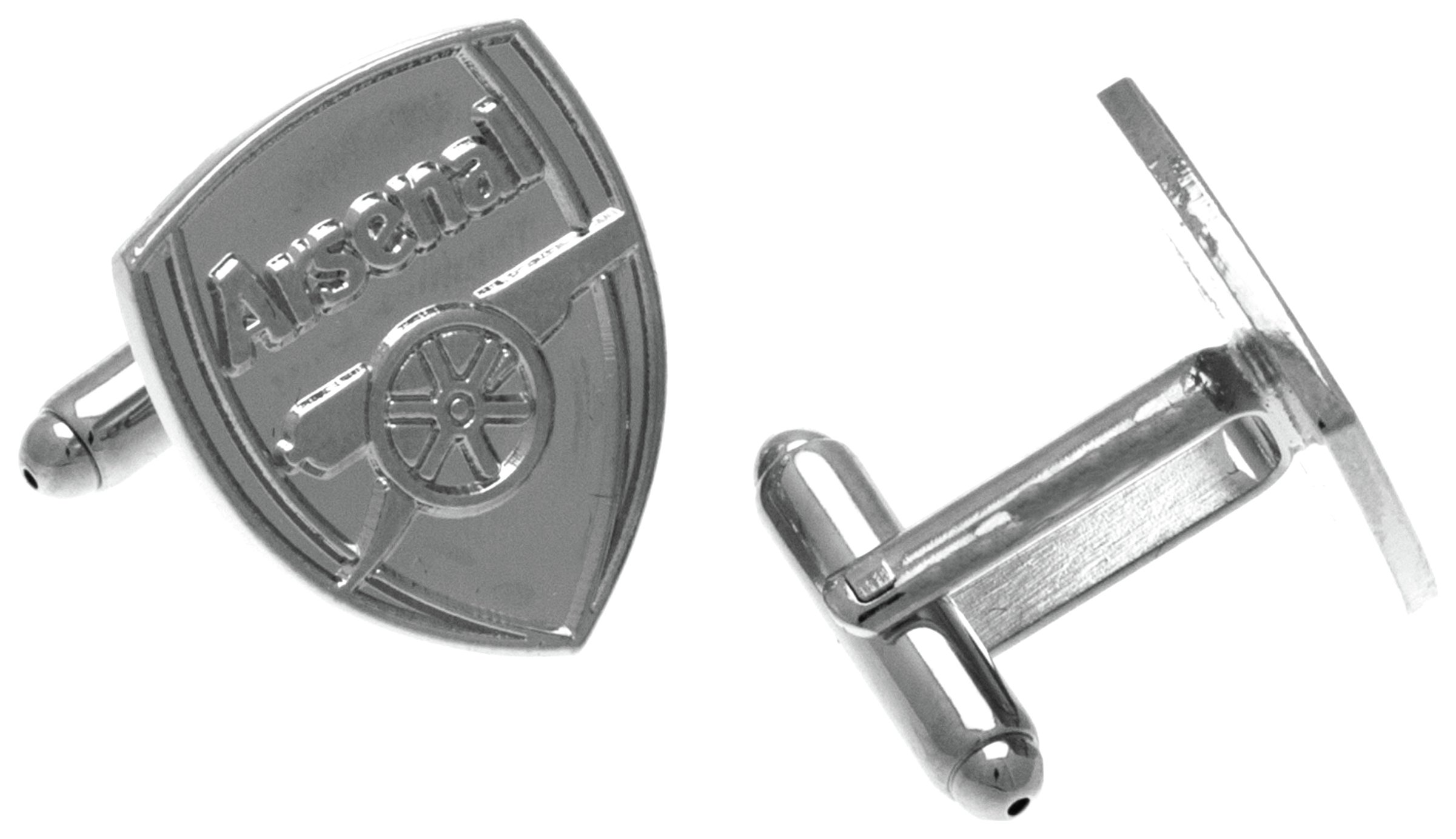 Image of Silver Plated Arsenal Crest Cufflinks