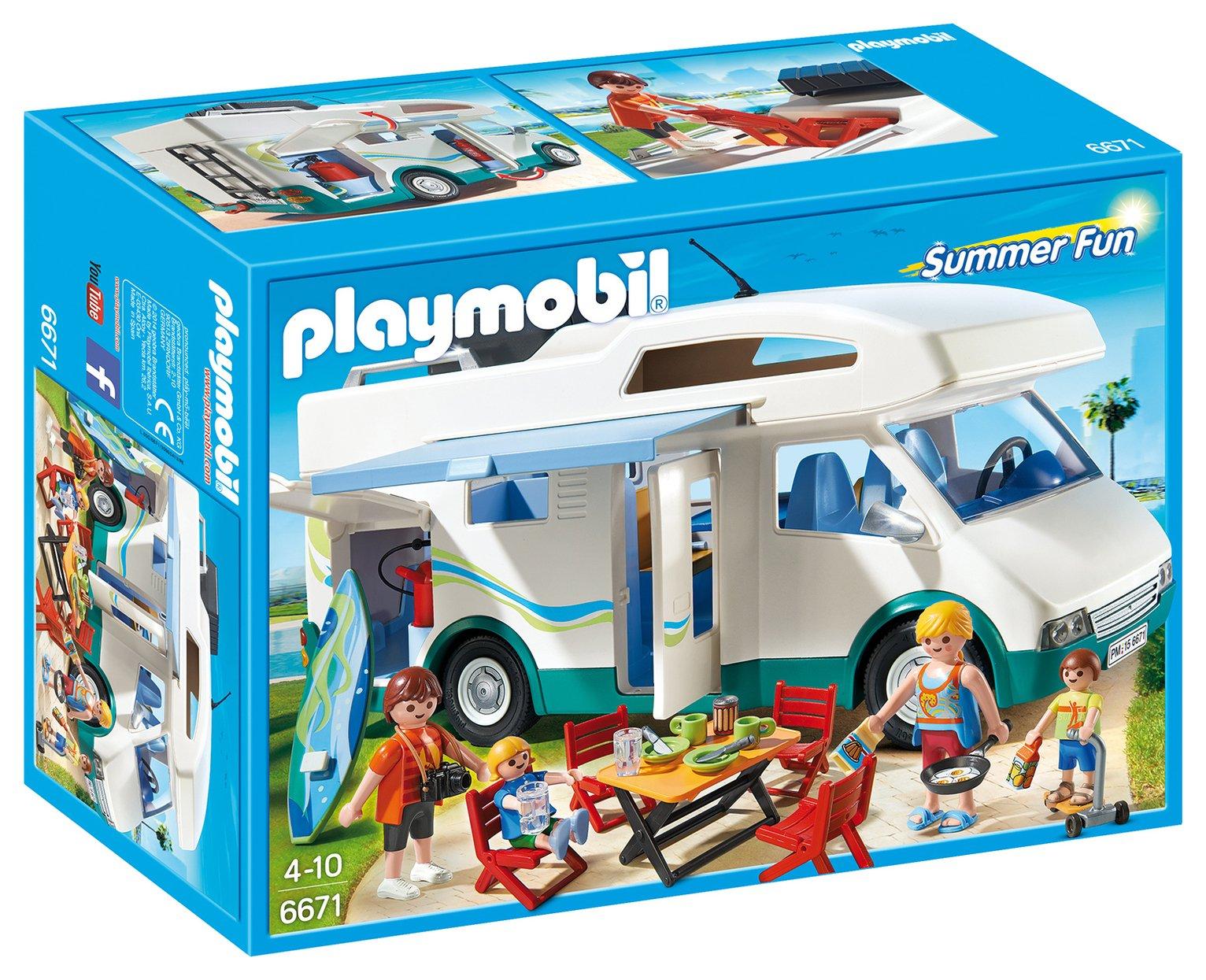 Playmobil 6671 Summer Camper Playset.