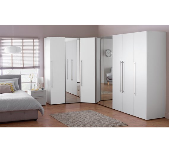 Buy hygena atlas corner unit white at your for Bedroom units argos