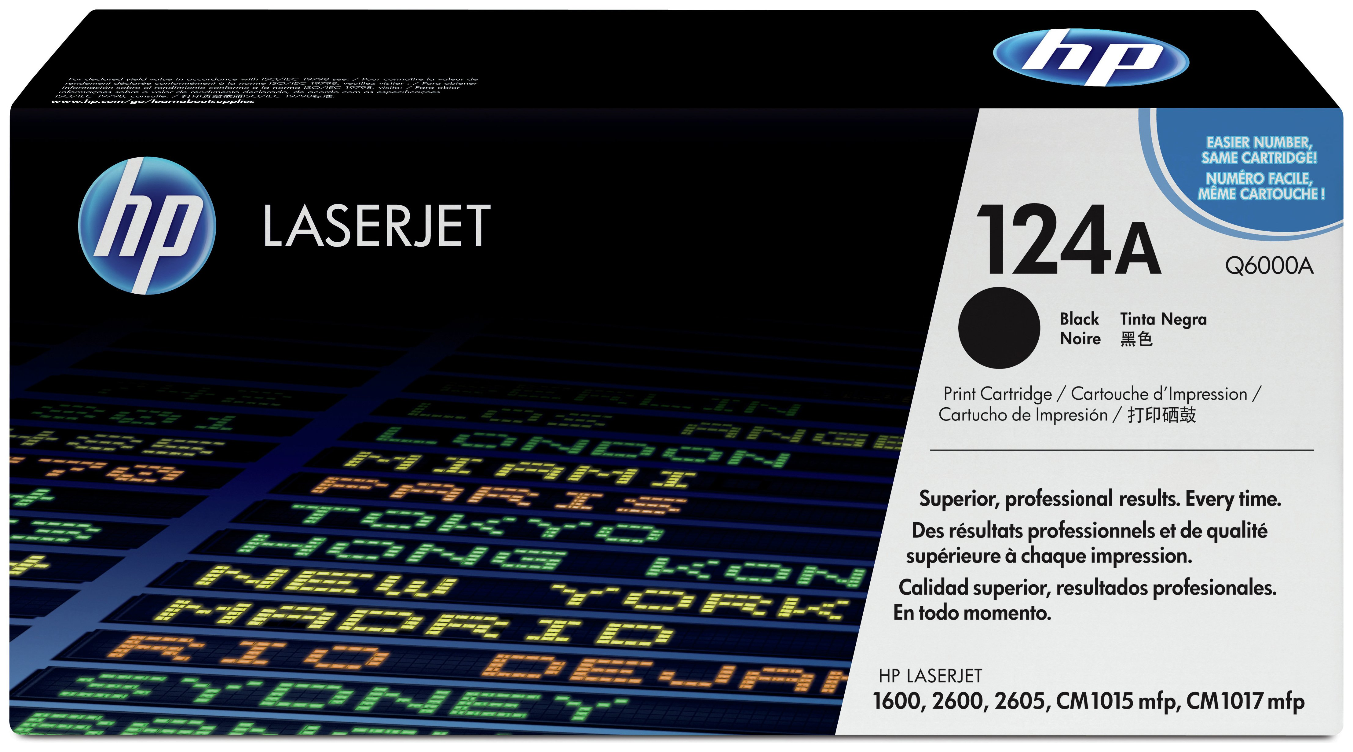 Image of HP - 124A Black LaserJet - Toner Cartridge (Q6000A)