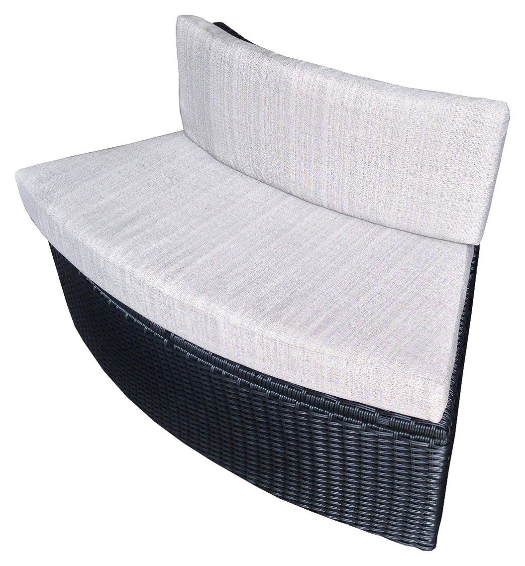 Rattan Love Seat with Cushion. lowest price