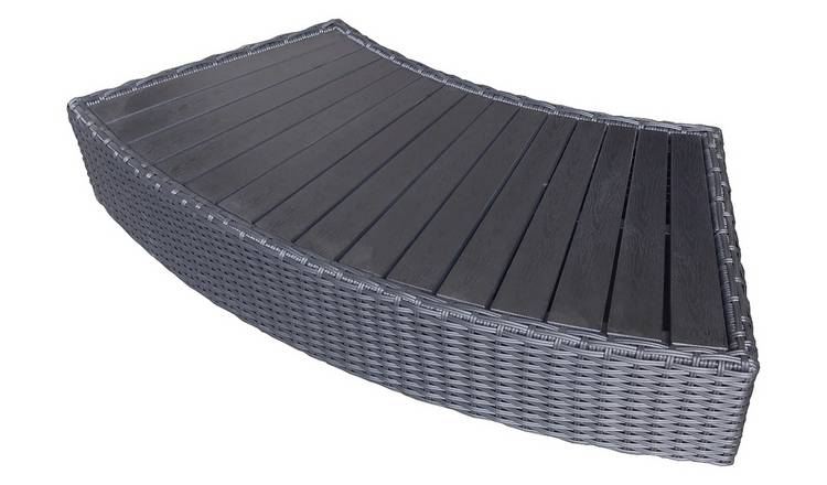 Canadian Spa Company Rattan Curved Step - Grey